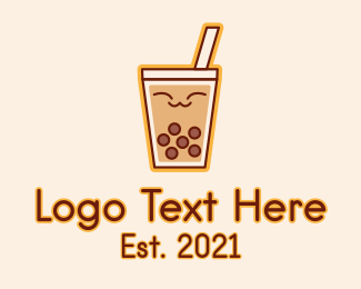 Bubble Tea - Happy Bubble Tea  logo design