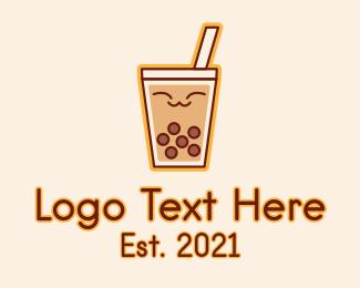 Tea - Happy Bubble Tea logo design