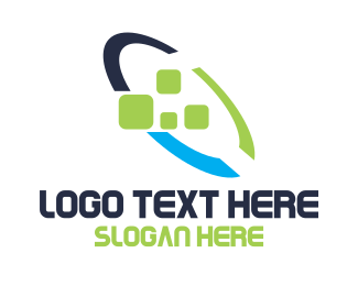 Loop - Tech Startup Loop Pixel logo design