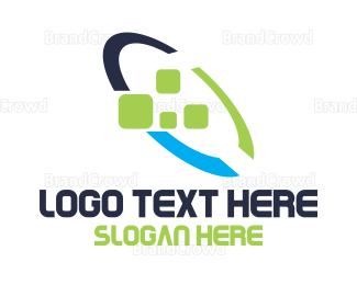 Pixel - Colorful Loop Pixel logo design