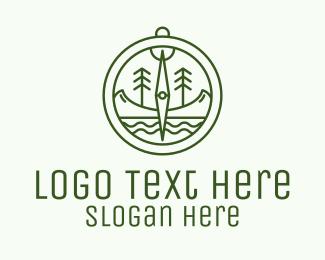 Journey - Green Compass Nature Outdoors logo design
