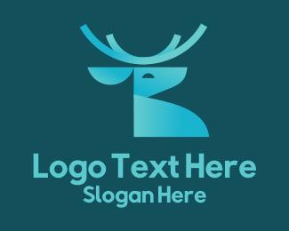 Spirit - Gradient Reindeer logo design