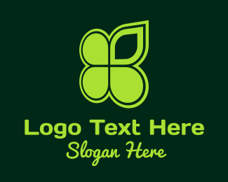 Lucky - Lucky Clover Leaf logo design