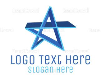 Celebrity - Blue Star logo design