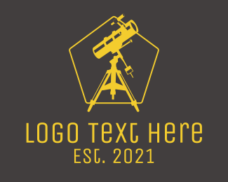 Astronomic - Astronomical Observatory Telescope  logo design