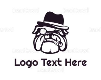 Fedora - Mafia Bulldog logo design