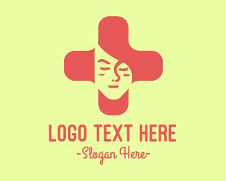 Medical Cross Woman Logo