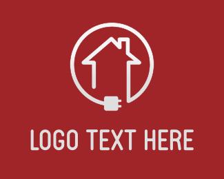 Electrician - Home Connection logo design