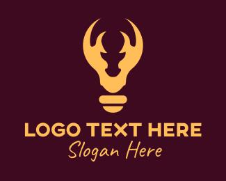 Light Bulb - Moose Light Bulb logo design