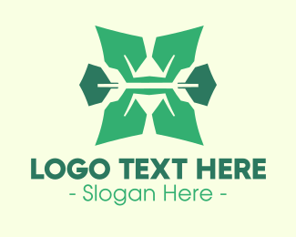 Evergreen - Organic Letter X logo design