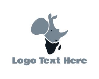 Rhinoceros - African Rhino logo design