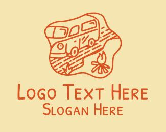 Road Trip - Trailer Van Camp logo design