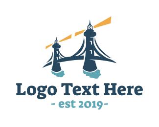Lighthouse - Lighthouse Bridge logo design