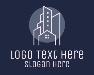 Property Sales - City Nightscape Real Estate logo design