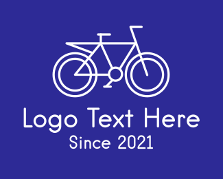 Bike Racing - Minimalist Bicycle logo design