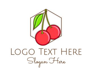 Fresh - Fresh Cherry Fruit logo design