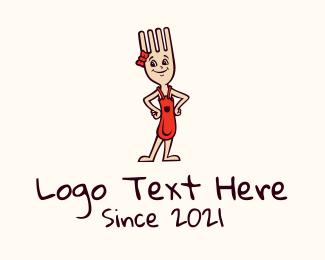 Diner - Fork Girl Diner logo design