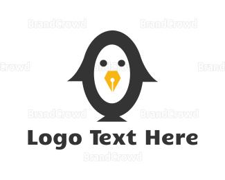 Writer - Writer Penguin  logo design