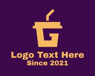 Beverage - Beverage Cup Letter G logo design