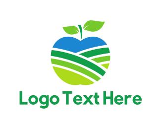 Agriculture - Apple Field logo design