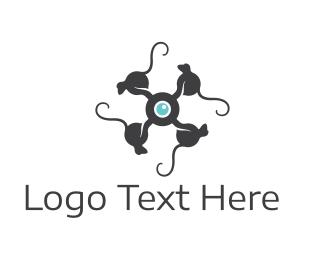 Drone - Monkey Drone logo design