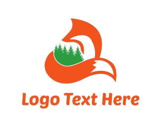 Pine Tree - Fox & Forest logo design