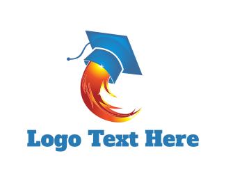 Phd - Rocket Graduation logo design