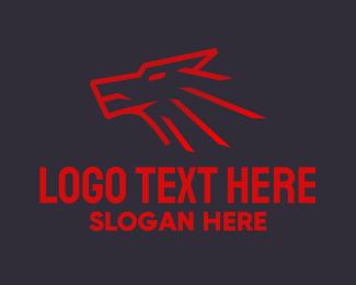 Sports Analyst - Red Wolf Mascot  logo design