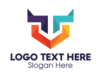 Online Security - Colorful Geometric Shield logo design