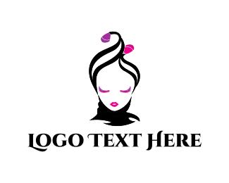 Woman - Flower Girl logo design