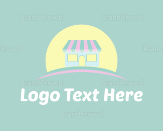 Book Store - Cute Store & Sun logo design