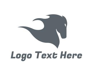 Gallop - Silver Horse logo design