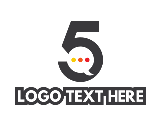 Team Speak - Number 5 Messaging logo design
