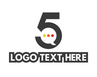 Discord - Number 5 Messaging logo design