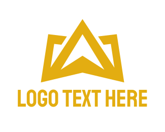 Glory - Gold Crown Mountain logo design