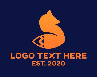 Arcade - Abstract Tech Fox  logo design