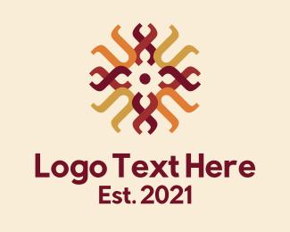 Weaving - Traditional Weaving Pattern logo design