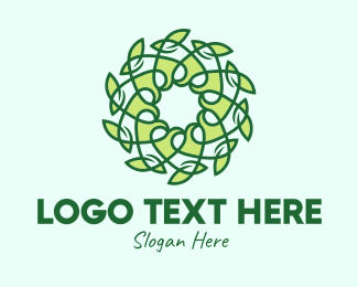 Natural Energy - Organic Leaf Decor logo design