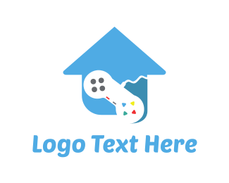 Console - Game House logo design