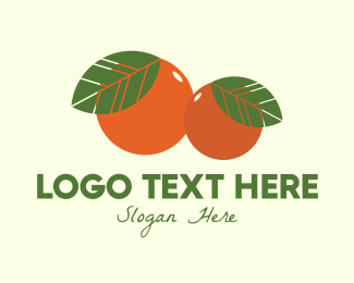 Organic Fruit Oranges Logo