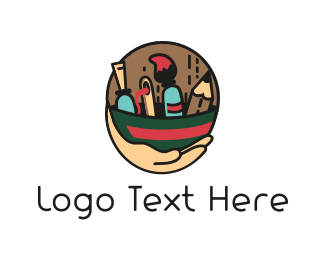 Needle - Painter Tools logo design