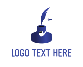 Quill - Ink Face logo design
