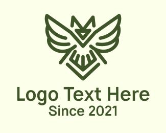 Security - Wild Owl Bird logo design
