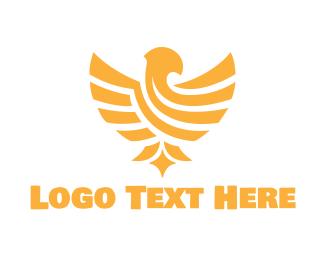 Leadership - Golden Eagle logo design