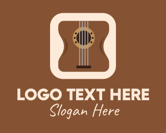 Song Writer - Acoustic Guitar Mobile Application logo design