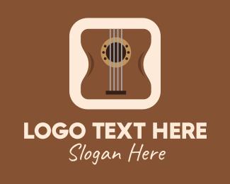 Acoustic - Acoustic Guitar Mobile Application logo design