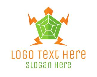 Electrician - Electric Turtle logo design