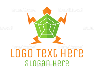 Electrical Energy - Electric Turtle logo design