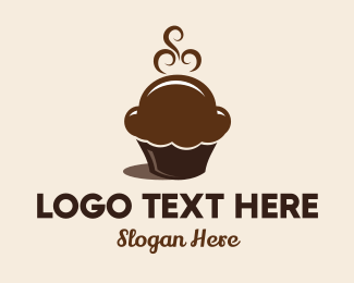 Brown Cupcake - Hot Chocolate Cupcakes logo design