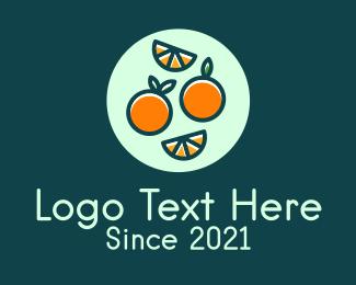 Fresh Fruit - Fresh Orange Fruit logo design